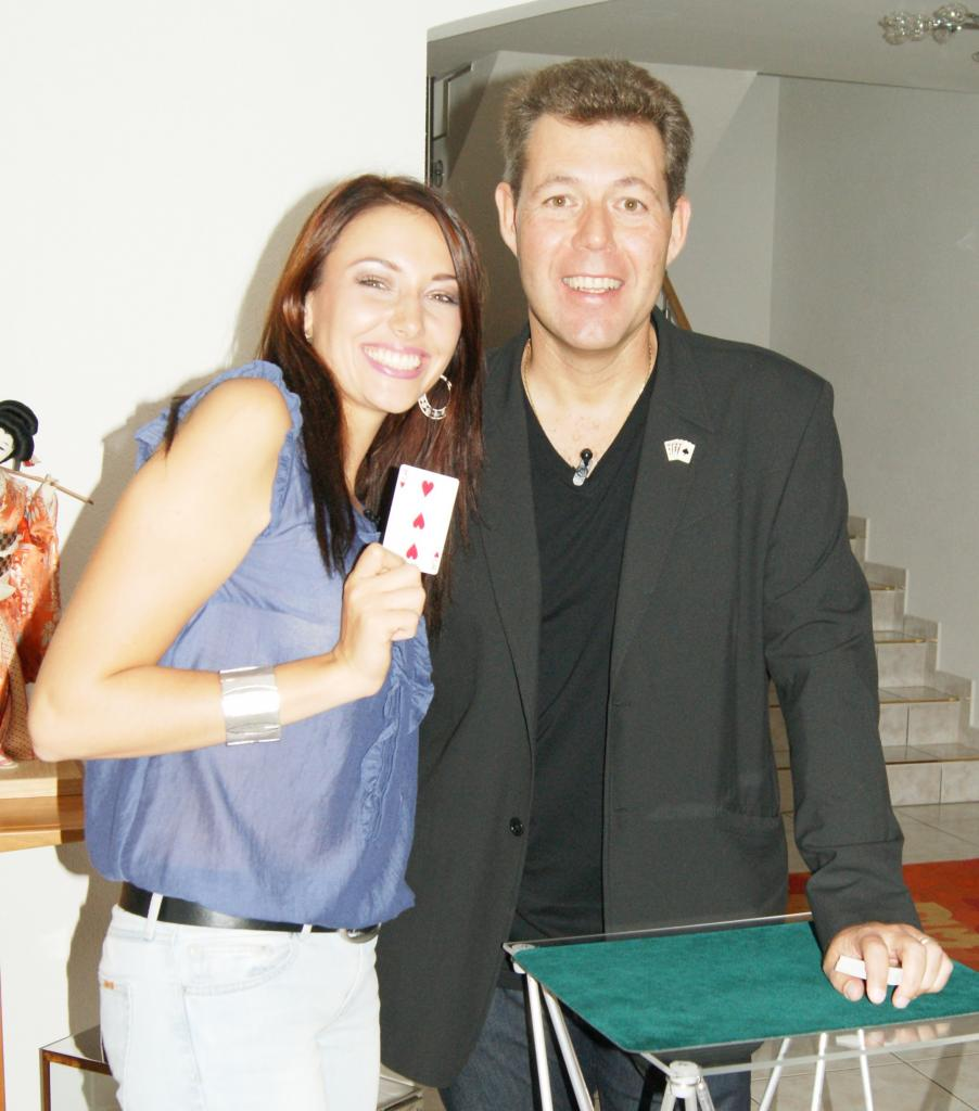 Anthony avec Delphine Wespiser Miss France 2012