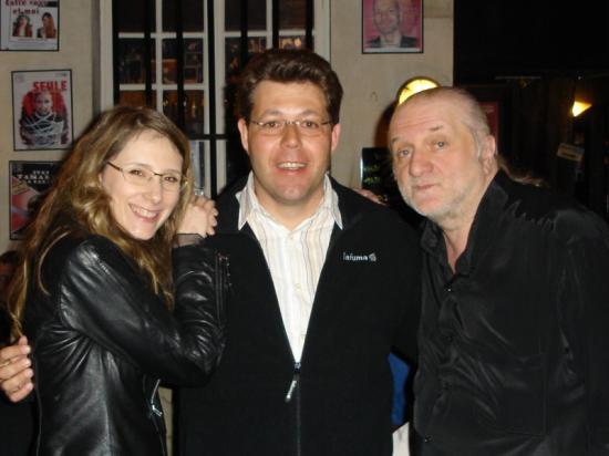 Anthony avec Alexandra et Dominique Duvivier