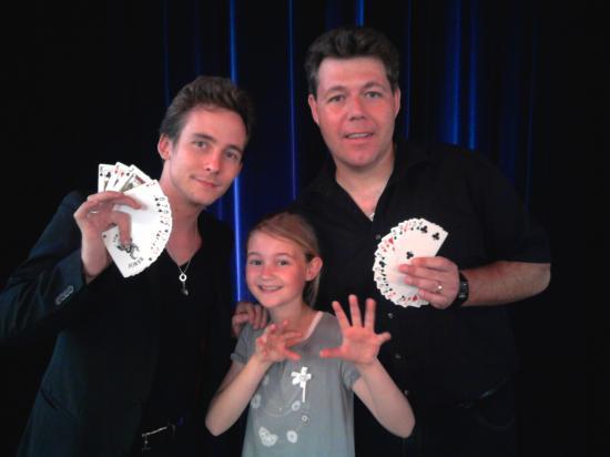 Anthony avec Eric Borner et Elsa